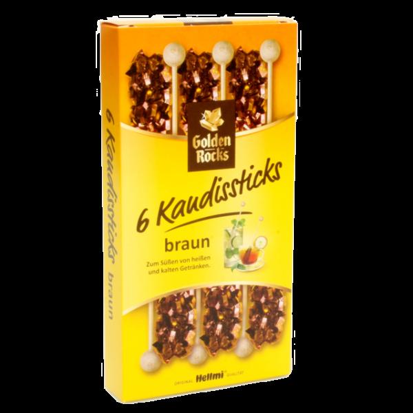 Golden Rocks - 6 Kandissticks braun