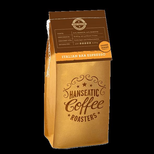 Hanseatic Coffee Company Italian Bar Espresso, 250g ganze Bohne