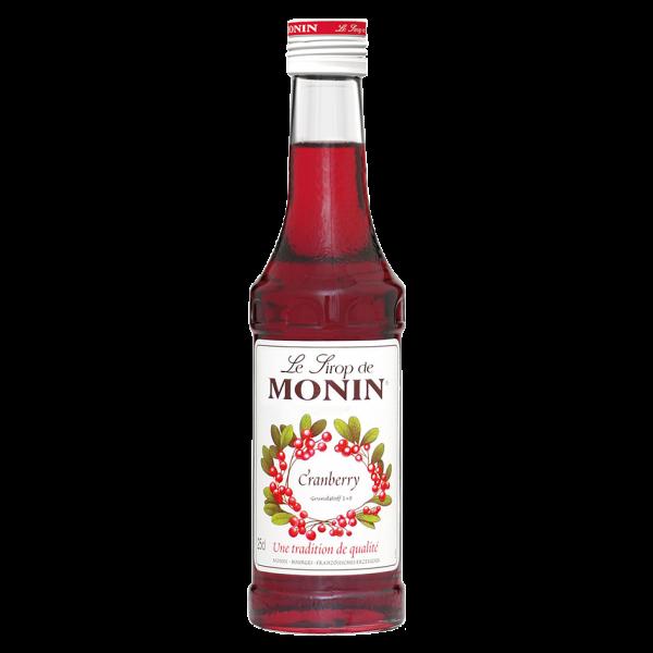 Monin Sirup Cranberry, 0,25L