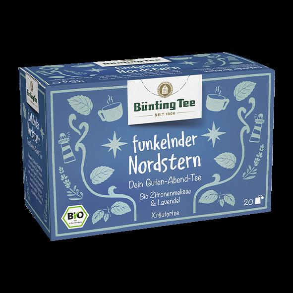 Bünting Tee Bio funkelnder Nordstern, 20 Tassenbeutel