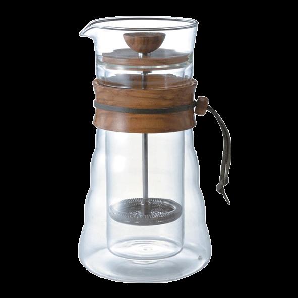 Hario Double Glas Coffee Press (Olive Wood)