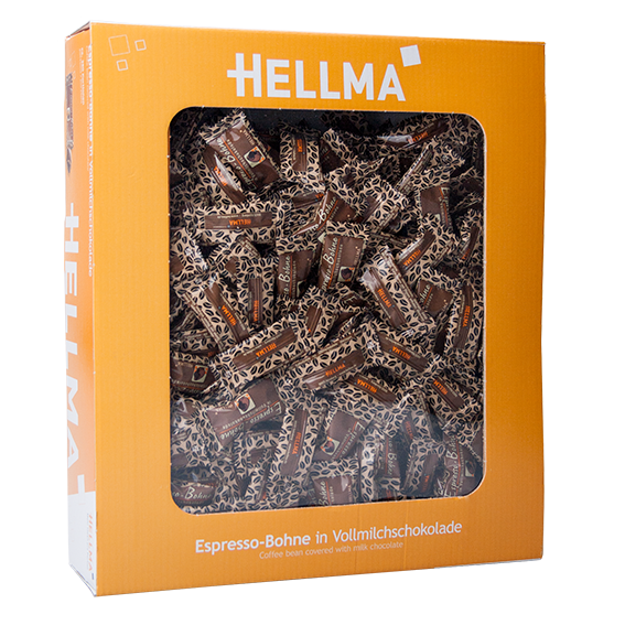 Hellma Espresso-Bohne in Vollmilchschokolade ca. 380 Portionen