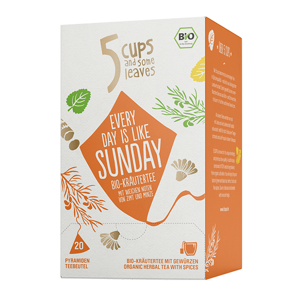 5 CUPS and some leaves Bio Every Day is Like Sunday
