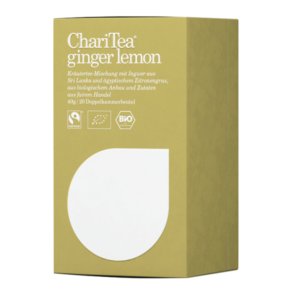 ChariTea Bio ginger lemon, 20 Teebeutel