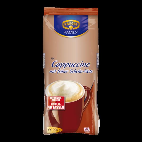 Krüger Cappuccino mit feiner Schoko-Note, 1000g