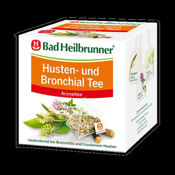 Bad Heilbrunner® Husten- und Bronchial Tee - Pyramidenbeutel