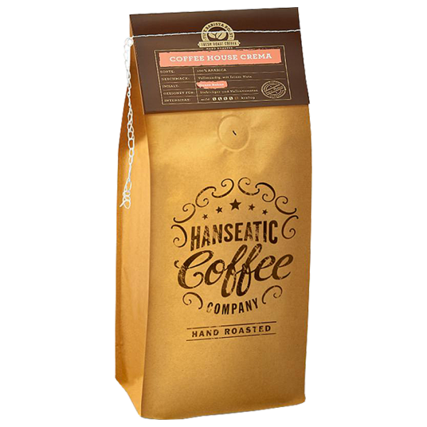 Hanseatic Coffee Company Coffee House Crema, 1000g ganze Bohne