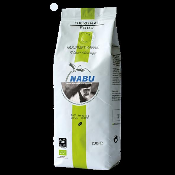 Original Food Bio NABU Gourmet-Kaffee, Wiener Röstung 250g, ganze Bohne