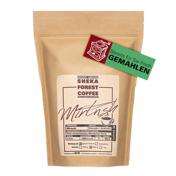 Sheka Forest Coffee Mirtnesh, 250g gemahlen