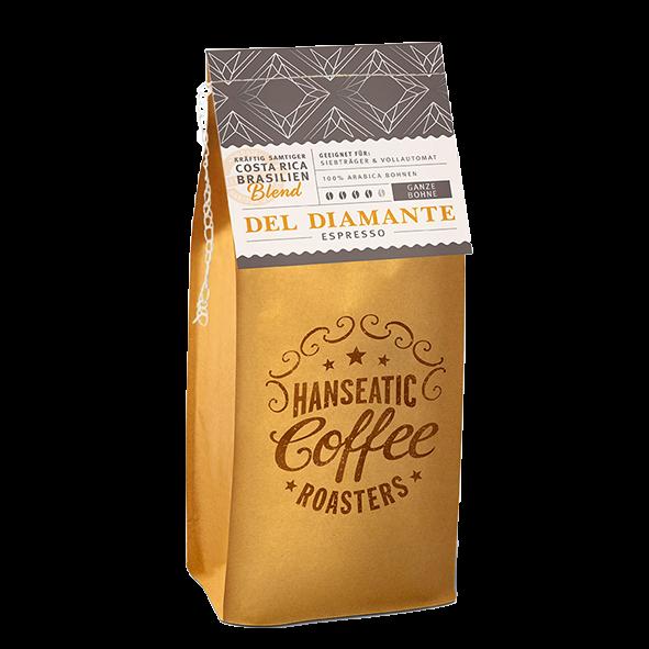 Hanseatic Coffee Company Del Diamante Espresso, 1000g ganze Bohne