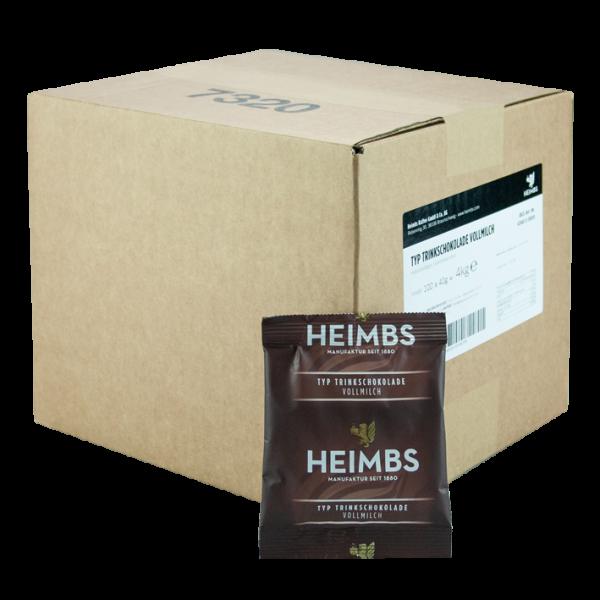 HEIMBS Trinkschokolade Vollmilch, 100x 40g