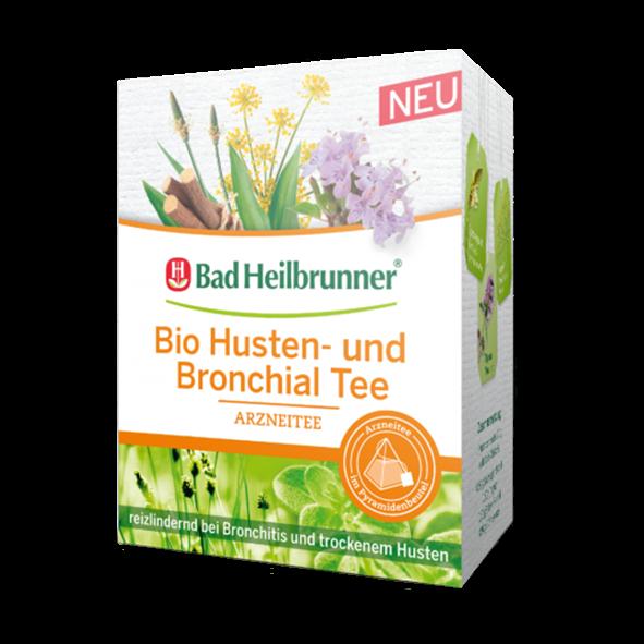 Bad Heilbrunner® Bio Husten- und Bronchial Tee - Pyramidenbeutel