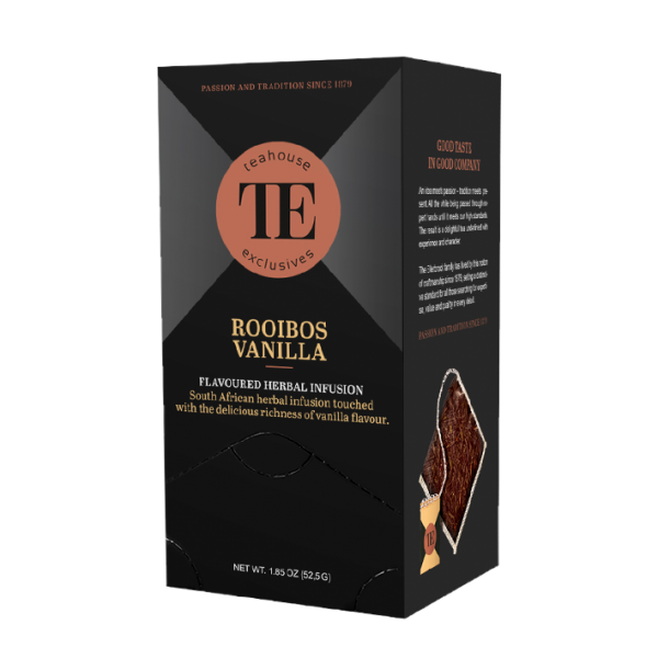 teahouse exclusives TE Rooibos Vanilla, 15 Luxury Tea Bag