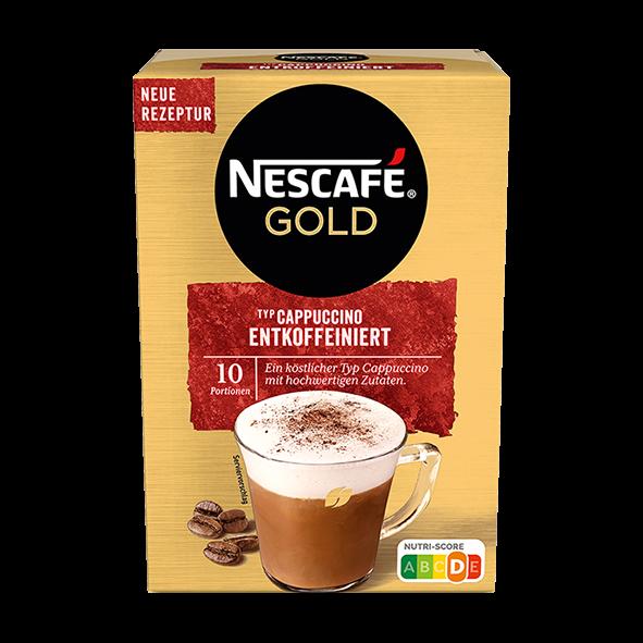 Nescafé Gold Cappuccino Entkoffeiniert, 10 Portionen