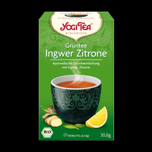 YogiTea Bio Grüntee Ingwer Zitrone