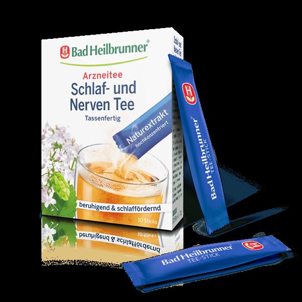 Bad Heilbrunner® Schlaf- und Nerven Tee, 10 Sticks