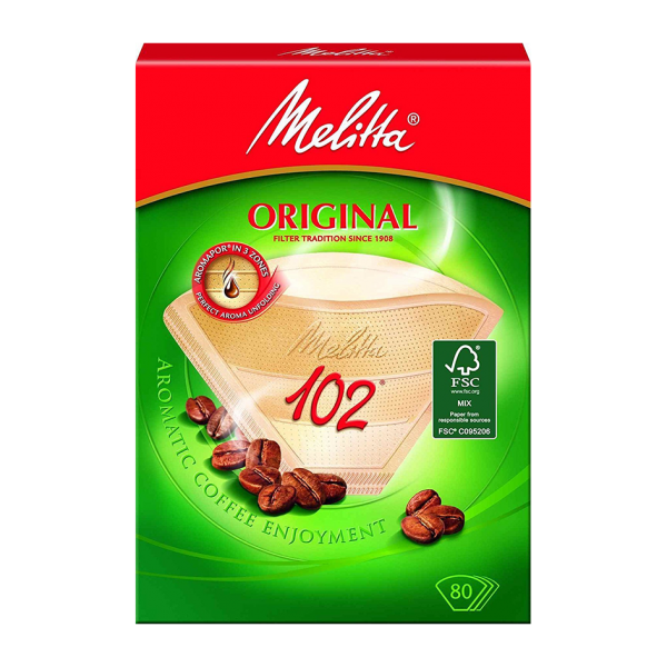Melitta® Filtertüten® Original, Typ 102, naturbraun, 80 Filtertüten