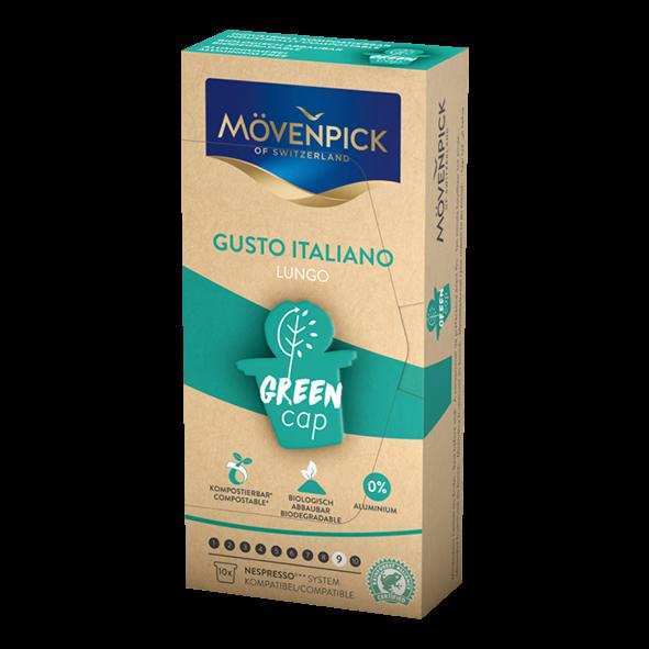 Mövenpick Gusto Italiano Lungo Green Cap, 10 Kapseln