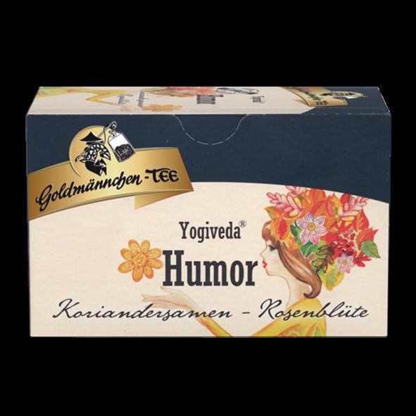 """Goldmännchen-TEE Yogiveda """"Humor"""" Koriandersamen-Rosenblüte"""