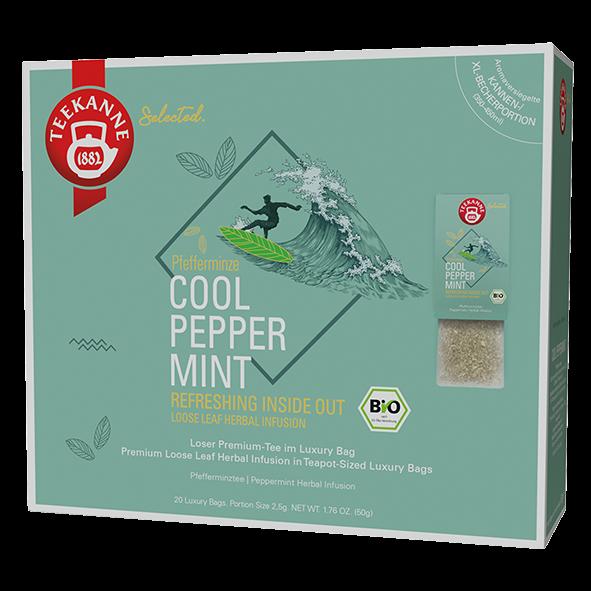 Teekanne Selected Bio Cool Peppermint, 20 Luxury Bags