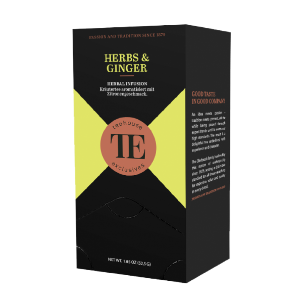 teahouse exclusives TE Herbs & Ginger, 20 Gourmet Tea Bag