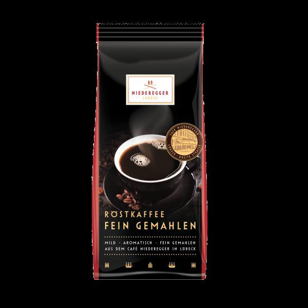 Niederegger Lübeck Röstkaffee fein gemahlen, 250g