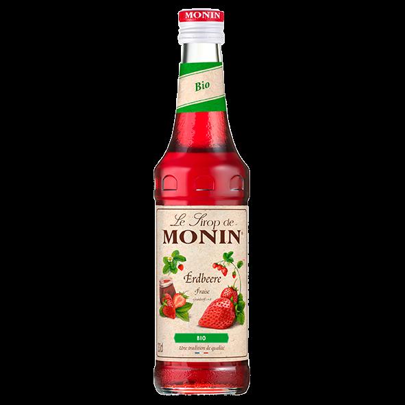 Monin Bio-Sirup Erdbeere, 0,33L