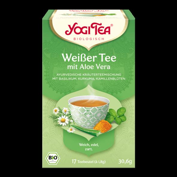 YogiTea Bio Weißer Tee mit Aloe Vera