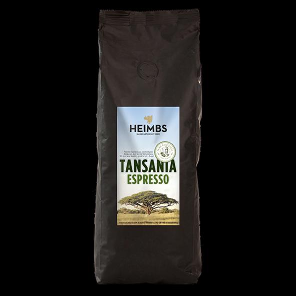 HEIMBS Tansania Espresso, 500g ganze Bohne