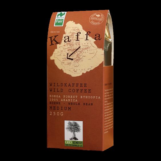 KAFFA Bio Wildkaffee Medium, 250g ganze Bohne