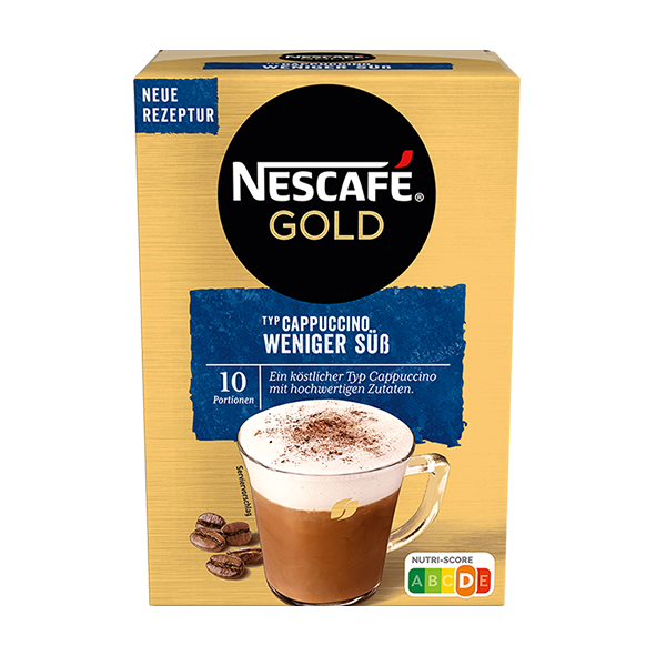 Nescafé Gold Cappuccino Weniger Süß, 10 Portionen