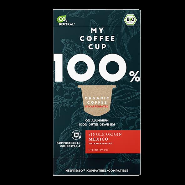 My-CoffeeCup Bio Single Origin Mexico entkoffeiniert, 10 Kapseln