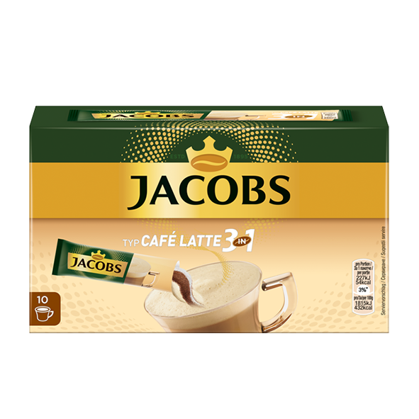 Jacobs Typ Café Latte 3 in 1, 10 Portionen