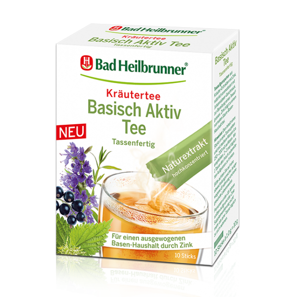 Bad Heilbrunner® Basisch Aktiv Tee, 10 Sticks