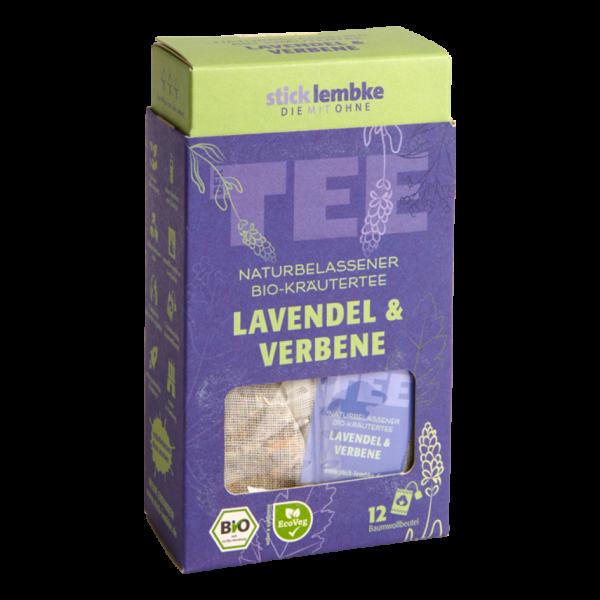 stick & lembke Bio Lavendel & Verbene, 12 Baumwollbeutel