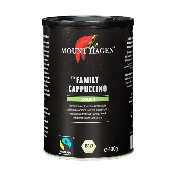 Mount Hagen Bio Family Cappuccino, löslich, 400g Dose