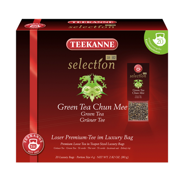 Teekanne selection Green Tea Chun Mee, Luxury Bag