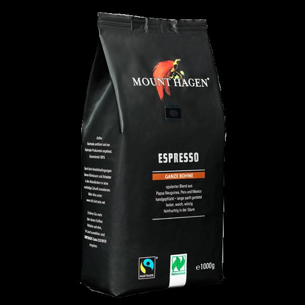 Mount Hagen Bio Espresso, 1000g ganze Bohne