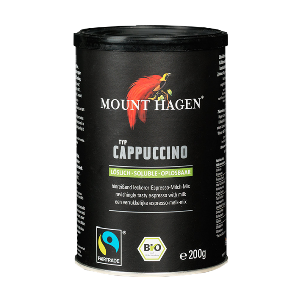 Mount Hagen Bio Cappuccino, löslich, 200g Dose