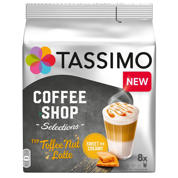Tassimo Coffee Shop Selections Toffee Nut Latte