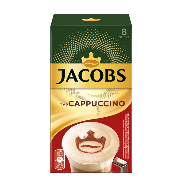 Jacobs Typ Cappuccino Sticks, 8 Portionen