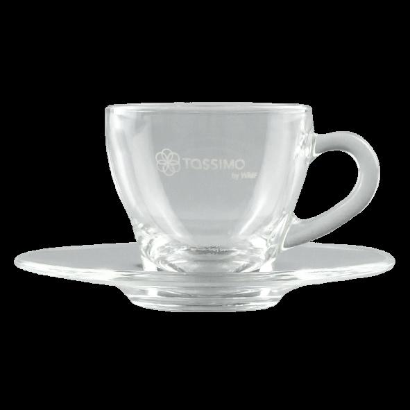 Tassimo by WMF Espresso-Glastasse mit Untertasse, Transparent