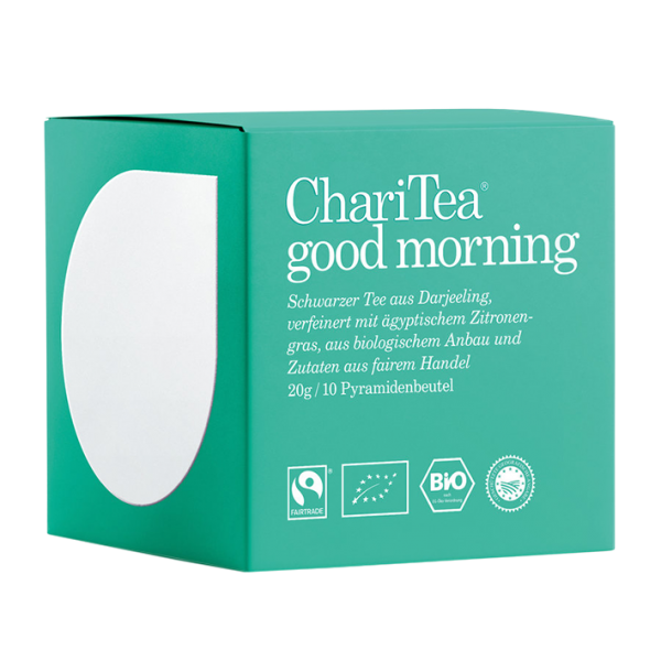 ChariTea Bio good morning, 10 Pyramidenbeutel