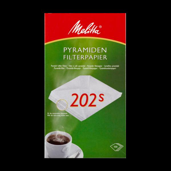 Melitta Pyramiden Filterpapier 202S, 100 Stück