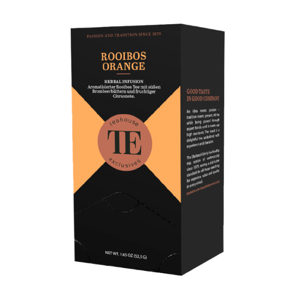 teahouse exclusives TE Rooibos Orange, 20 Gourmet Tea Bag
