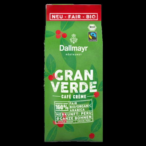 Dallmayr Bio Gran Verde Café Crème, 220g ganze Bohne
