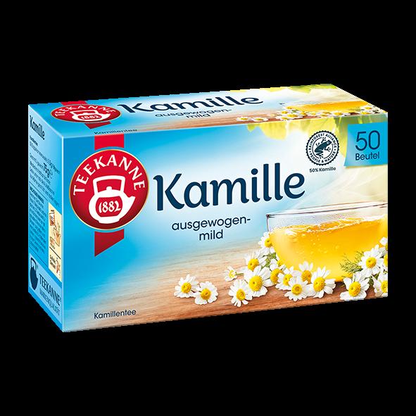 Teekanne Kamille, 50 Beutel