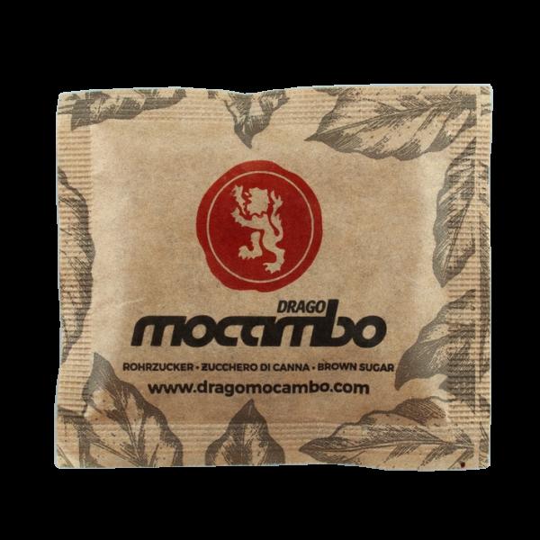 Mocambo Zucker Brief brauner Rohrzucker 1000 Stück