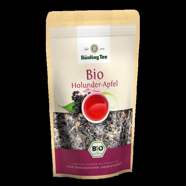 Bünting Tee Bio Holunder-Apfel, 90g loser Tee