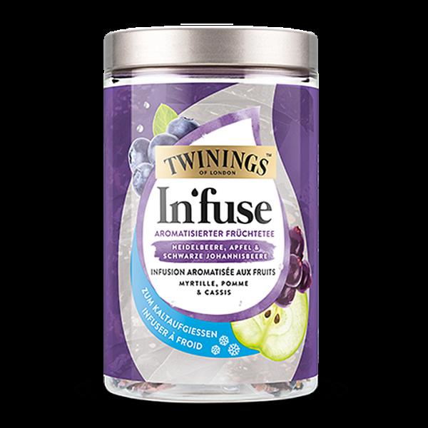 Twinings In'fuse Cold Tea Heidelbeere, Apfel & schwarze Johannisbeere 12 Beutel